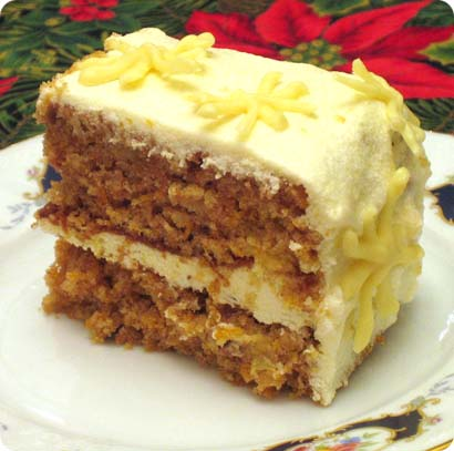Carrot Cake with Lemon-Philadelphia frosting