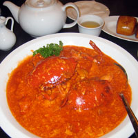 Singapore style chili crabs in Singapore
