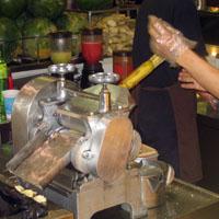 Sugar cane juicer in Singapore