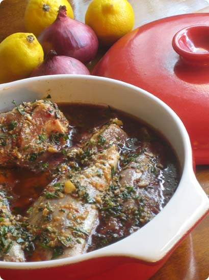 Lamb Shanks in Red Wine and Herbs Marinade