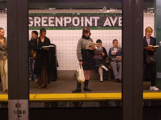 Greenpoint Ave subway station in NYC